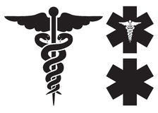 Medical signs. Medical black signs on the white background Royalty Free Stock Photos