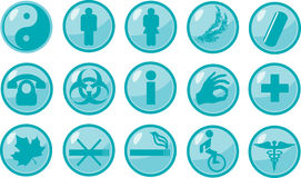 Medical signs icons Stock Image