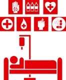 Medical signs illustration Stock Photo
