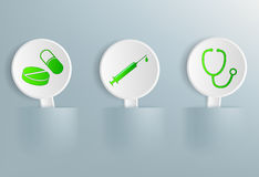 Medical signs on tablets Stock Photography