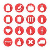 Medical silhouette pictogram and health vector Royalty Free Stock Image