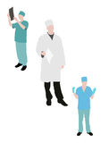 Medical silhouettes Royalty Free Stock Photo