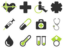 Medical simply icons Royalty Free Stock Photography