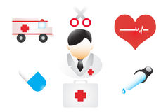 Medical sings set Royalty Free Stock Image