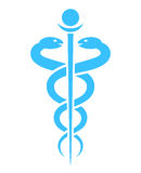Medical snake vector icon Royalty Free Stock Photos