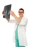 Medical specialist examining patients x-ray Stock Photos