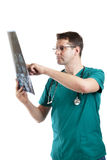 Medical specialist examining patients x-ray Royalty Free Stock Photography