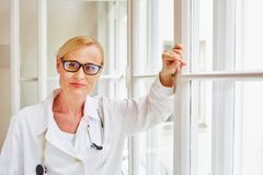 Medical specialist in hospital. With authority and compentence Stock Images