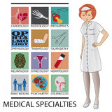 Medical specialties Royalty Free Stock Photo