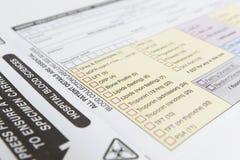 Medical Specimen Form Stock Images