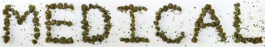 Medical Spelled With Marijuana. The word medical spelled out with real marijuana stock images