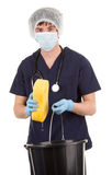 Medical staff cleaning Stock Images