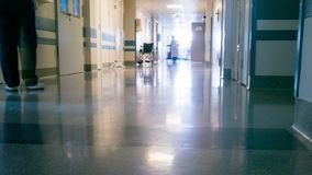 Medical Staff at Clinic`s Hallway. Medical Staff at Clinic`s Corridor. Timelapse stock footage