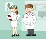 Medical Staff, Doctor and Nurse royalty free illustration