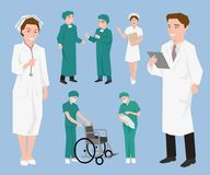 Medical staff, Doctors and nurse assistants. Stock Images