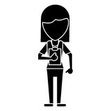 Medical staff female clipboard health pictogram Royalty Free Stock Photos