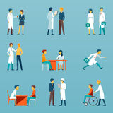 Medical staff flat vector icons. Health care set Royalty Free Stock Photography