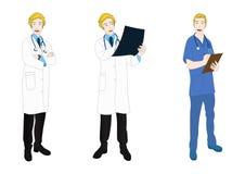 Medical Staff Full Body Caucasian Stock Photography