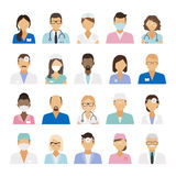 Medical staff icons Stock Images