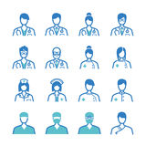 Medical staff icons set Royalty Free Stock Photos