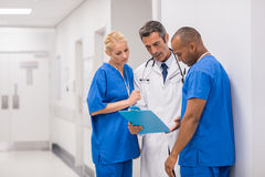 Medical staff meeting royalty free stock photography