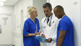 Medical staff meeting stock footage