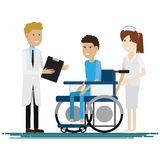 Medical staff with patients. Vector illustration. Medical staff with patients. Vector Royalty Free Stock Photos