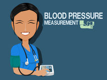 Medical staff show Blood pressure measurement Stock Photography