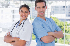 Medical staff standing with arms crossed Royalty Free Stock Photography