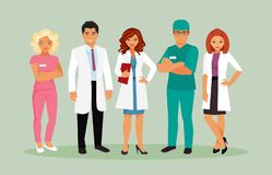 Medical staff vector. Group of doctors and other medical staff. Vector illustration royalty free illustration