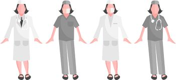 Medical staff - Vector Surgeon Royalty Free Stock Image