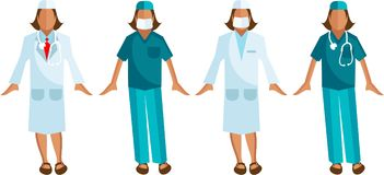 Medical staff Vector Surgeon, Woman Doctor Royalty Free Stock Photo