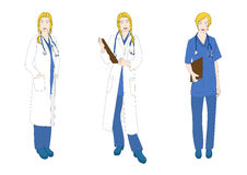 Medical Staff Woman Full Body Caucasian Color Royalty Free Stock Photography