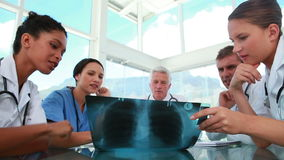 Medical staff working on a chest radiography Royalty Free Stock Photo