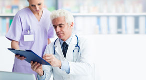 Medical staff working in the office Royalty Free Stock Images