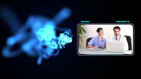 Medical staff working in offices Royalty Free Stock Photography