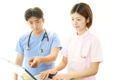 Medical staff working Royalty Free Stock Images