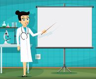 Medical staff at the workplace. stock illustration