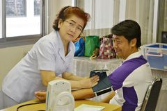 The medical staffs are providing patients in thailand. Photo taken on 2015 Royalty Free Stock Image