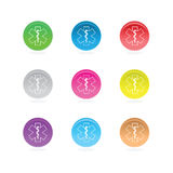 Medical star symbols in color circle Royalty Free Stock Photo