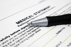 Medical statement Royalty Free Stock Photos