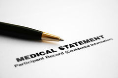 Medical statement stock image