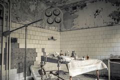 Medical station 126 of Pripyat. The operating theater Royalty Free Stock Images