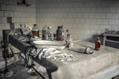 Medical station 126 of Pripyat. The operating theater Royalty Free Stock Image