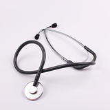 Medical stethoscope. Details of a medical stethoscope Stock Photography
