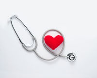 Medical stethoscope with heart. Stock Photos