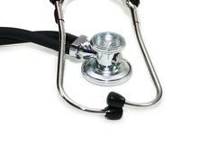 Medical stethoscope isolated. On the white background Stock Photos
