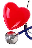 Medical stethoscope and red heart Stock Image
