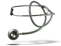 Medical stethoscope with shadow Royalty Free Stock Photography
