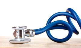 Medical stethoscope on table Royalty Free Stock Photography
